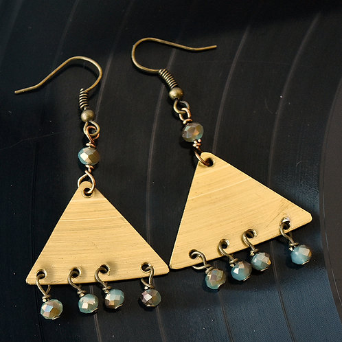 Drum Cymbal Chandelier Earrings