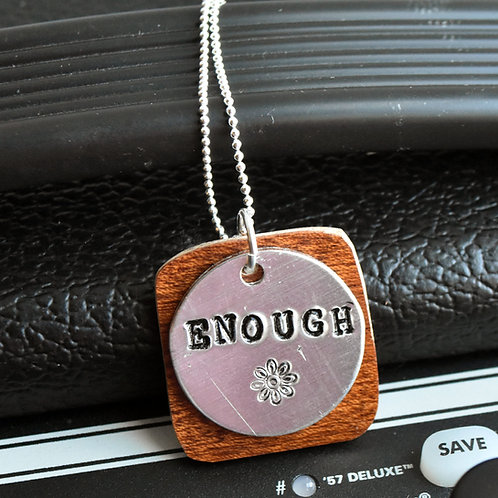 Kevin Griffen- Enough Guitar Wood Necklace