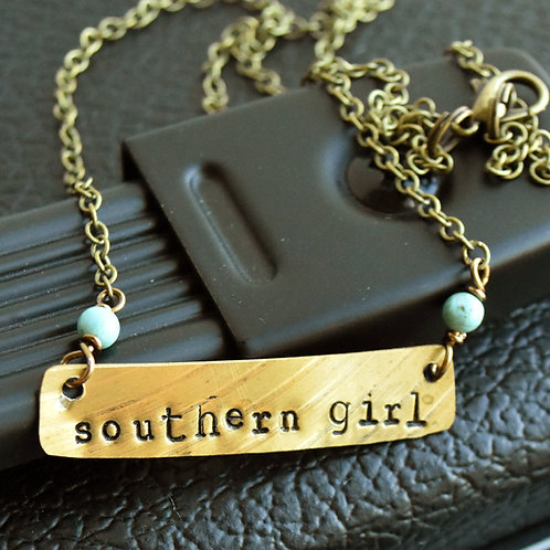 Amos Lee - Southern Girl Stamped Drum Cymbal Necklace