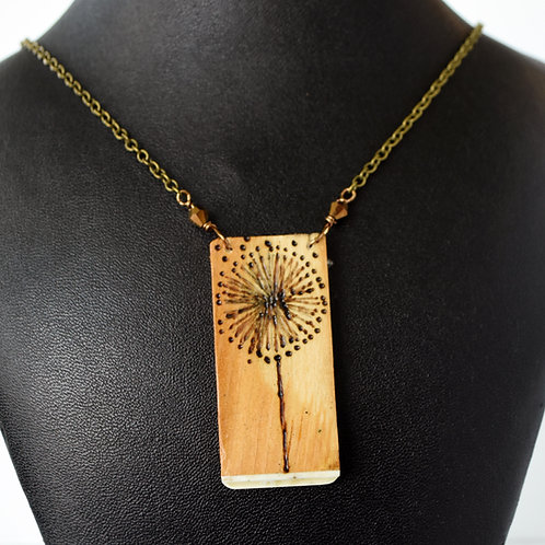 Dandelion Piano Key Necklace