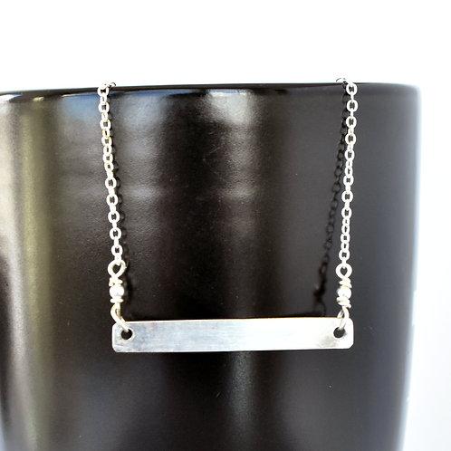 Tuba Bell Bar Necklace