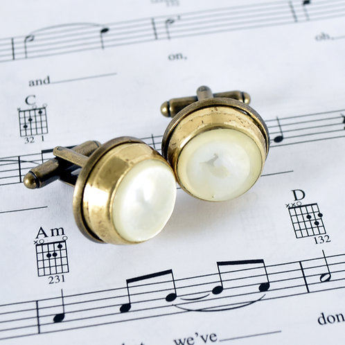 Baritone Finger Button Cuff Links