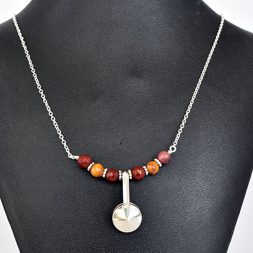 Beaded Clarinet Key Necklace with Mookaite Beads