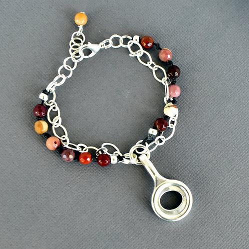 Boho Beaded Bassoon Key Bracelet