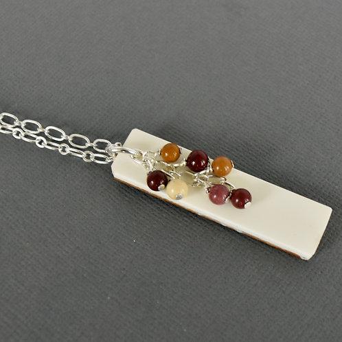 Piano Key Necklace with Bead Cascade