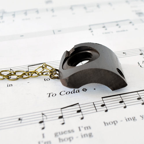 English Horn Grenadilla Wood Necklace