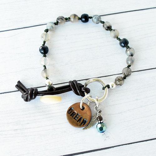 """""""Dream"""" Beaded Charm Bracelet"""