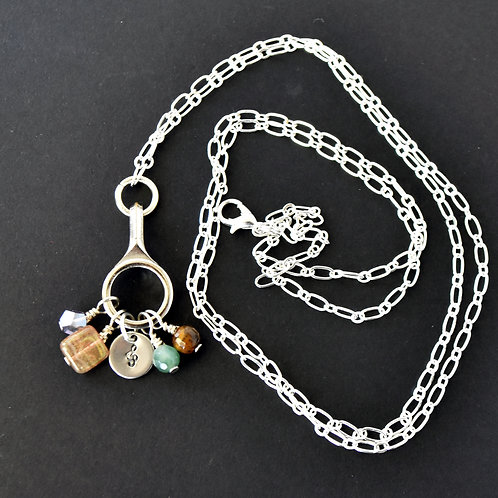 Long Convertible Clarinet Charm Necklace