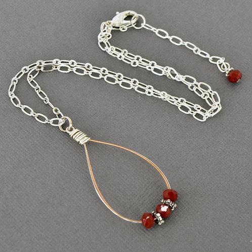 Mandolin String Teardrop Necklace