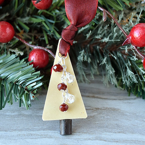 Guitar Wood Christmas Tree Ornament