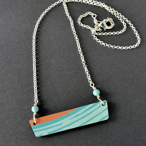 Sunset Ukulele Wood Necklace