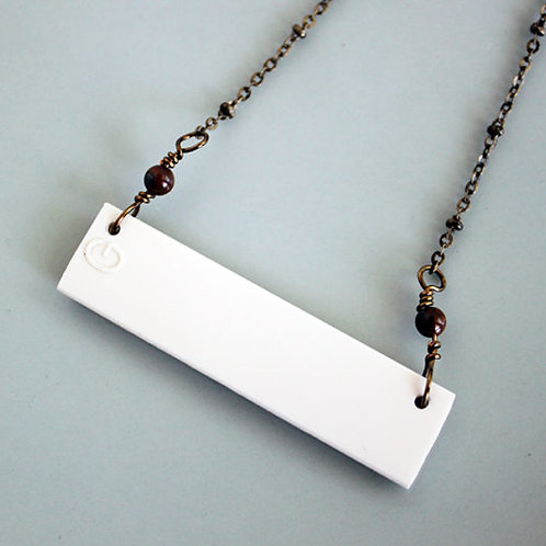 G Key Piano Bar Necklace