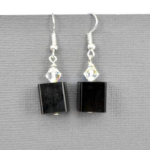 Black Piano Key Earrings