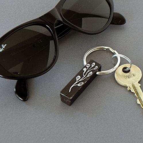 Black Piano Key Ring