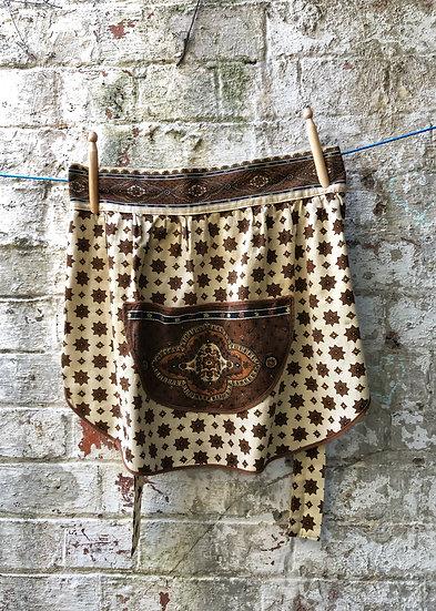 Brown and paisley vintage bohemian look pinny