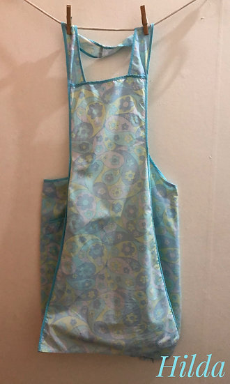 soft green and pale blue vintage apron