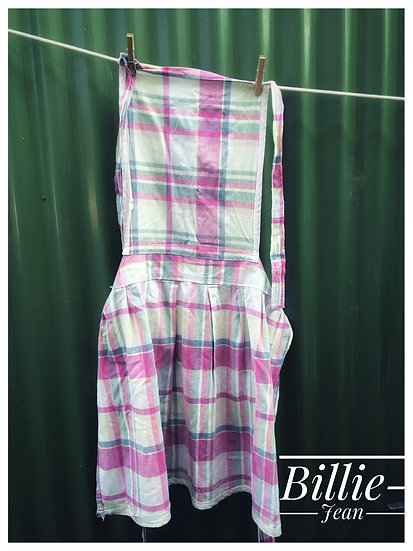plaid vintage apron with full pinny