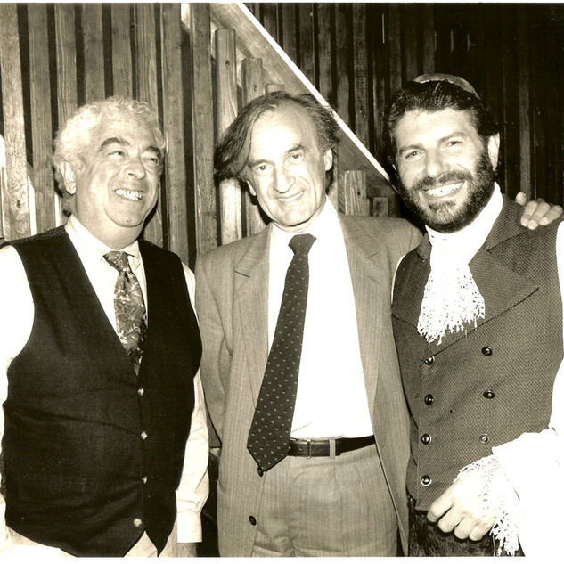 """JERRY BOCK & ELI WIESEL AT """"THE ROTHSCHILDS"""""""
