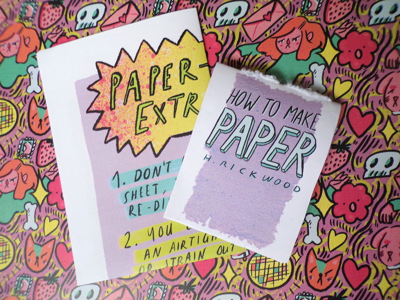 How to Make Paper Zine and Folded Poster