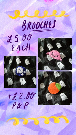 £5 Brooches