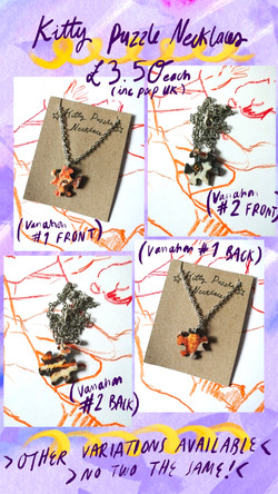 Kitty Puzzle Necklaces