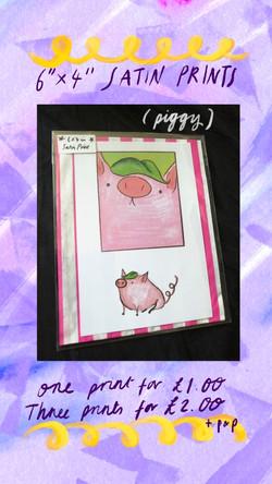 £1 Print - Piggy