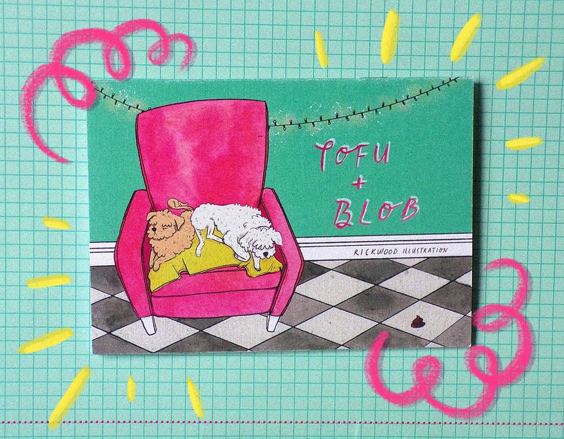 1_Tofu + Blob Cover Art -Watercolour, Co