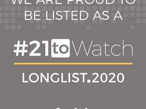 We Are Proud to Be Listed As a #21toWatch Longlist.2020 Cofinitive