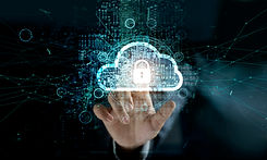 businessman-touching-cloud-with-padlock-