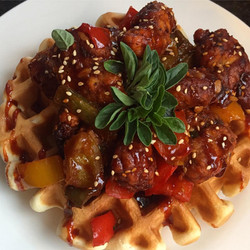 General Tso Chicken & Waffles