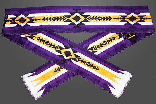 Headband Purple & Gold Double Sided