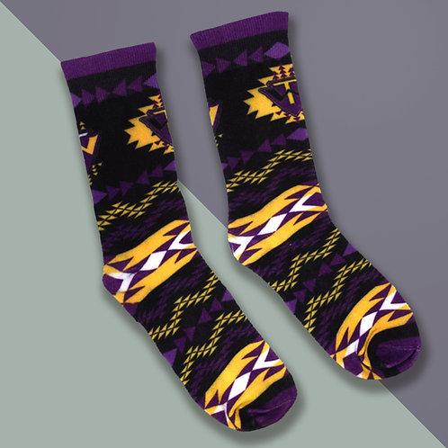 Socks Purple & Gold