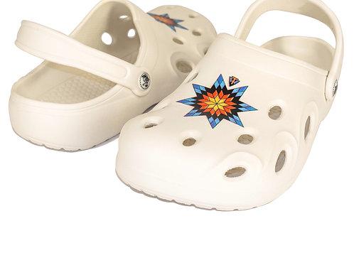 White Moc Blue Star Quilt