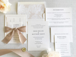 Black and white classic invitation