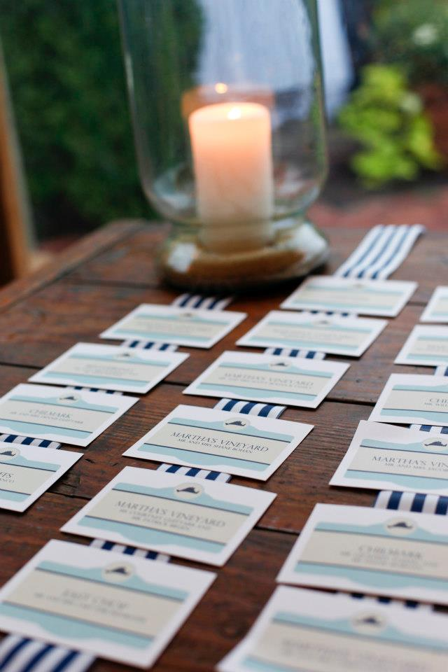 Town sign placecards