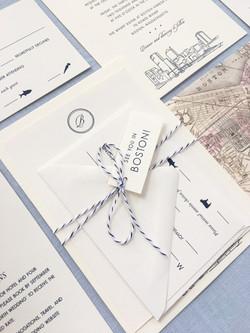 Boston Harbor Wedding Invitation