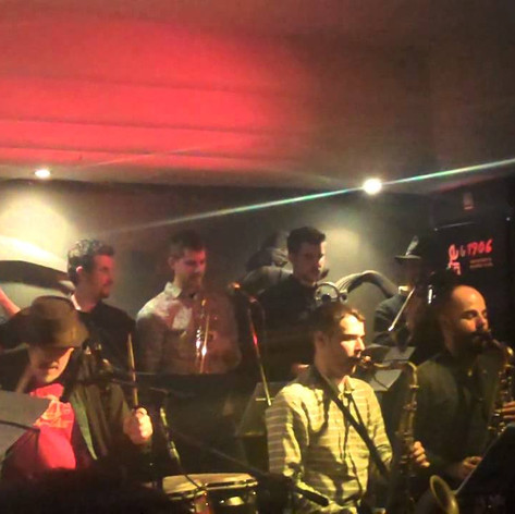 """""""Goodbye Porkpie Hat"""" - Jerry Gonzalez Big Band - Berlin Cafe (Madrid, 2014)."""