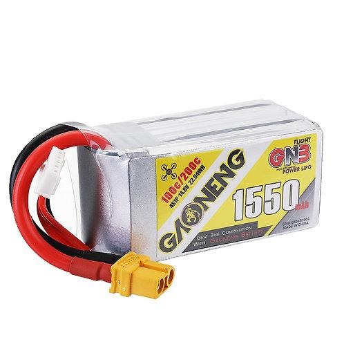 Gaoneng GNB 14.8v 1550mah 100c 4s Lipo XT60