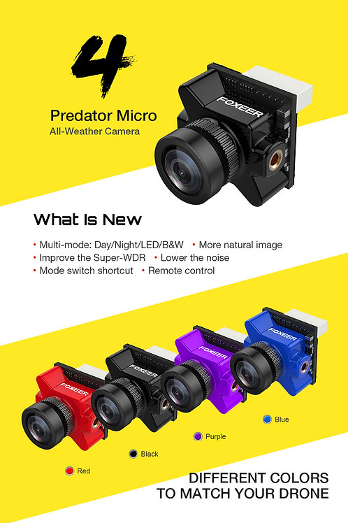 Foxeer Predator Micro V4 FPV Cam