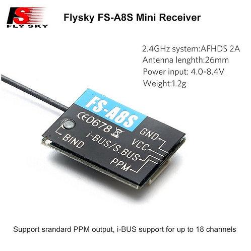 Flysky FS-A8S FS A8S 2.4G 8CH Mini Receiver