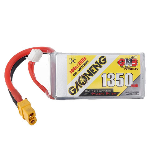 Gaoneng GNB 14.8v 1350mAh 100C 4s Lipo XT60