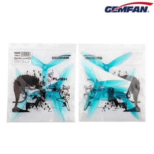 Gemfan Flash 5144 3-blade Clear Blue