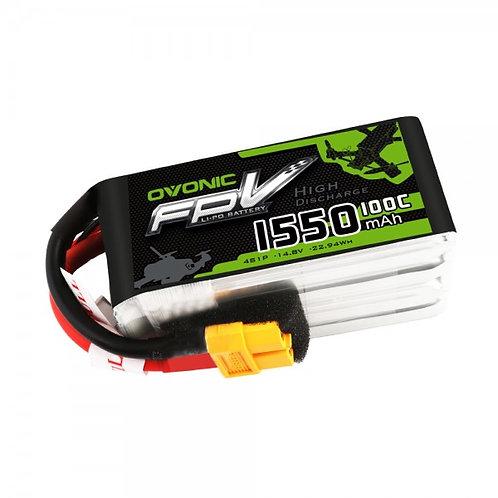 Ovonic 4s 1550mah100c Lipo Battery