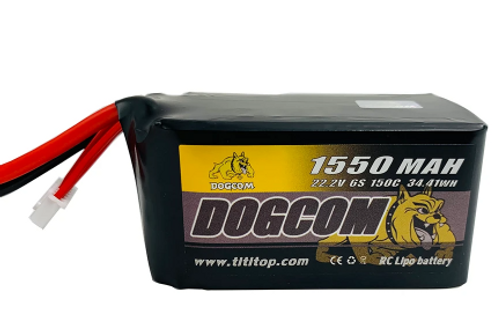 Dogcom 6s 1550mah 150c Lipo Battery