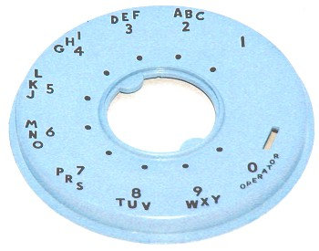 Numeral Ring for rotary dials. FREE SHIP.