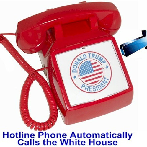 Donald Trump Hotline Phone automatically calls to the White House. FREE SHIP
