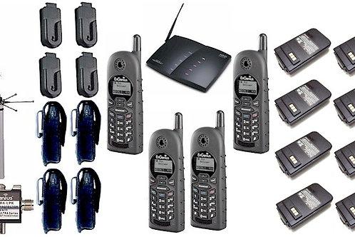 EnGenius DuraFon 4-line pkg. 4 handsets, 8 batteries, 4 holsters, outdoor ant