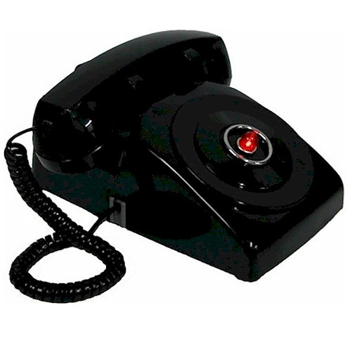 """Passive"" Black Classic Batphone for desk or table use. FREE SHIP"