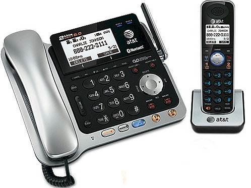 New ATT 86109 2-line phone with wireless handset. Add up to 11 more handsets.