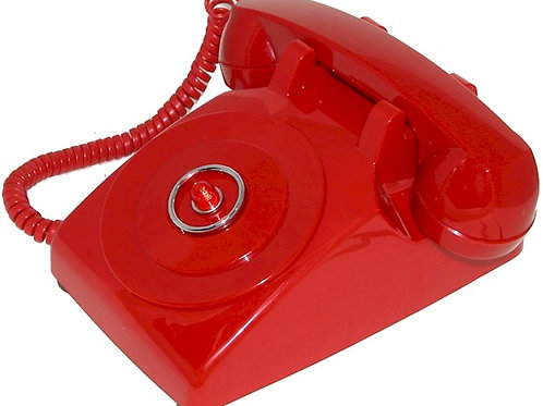 """Passive"" Bright red Batphone. Light flashes when call comes in. FREE SHIP"